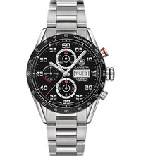 Tag Heuer Cv2a1rba0799 Carrera Stainless Steel Watch Black