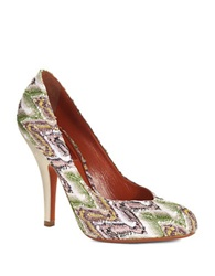 Missoni Beaded Shimmer Pumps White Multi