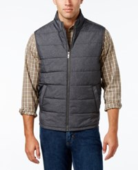 Tommy Bahama Men's Cavill Quilted Vest Grey Heath