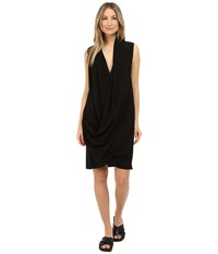 Limi Feu Draped Dress Black