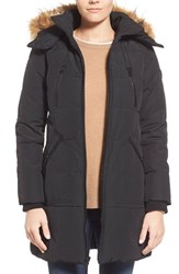 Women's Guess 'Expedition' Quilted Parka With Faux Fur Trim