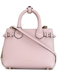 Burberry Mini 'Banner' Tote Pink Purple
