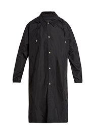 Ami Alexandre Mattiussi Point Collar Shell Trench Coat Black