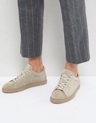 Selected Homme Premium Suede Trainers Silver Mink Beige