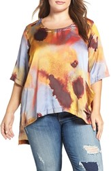 Melissa Mccarthy Seven7 Plus Size Women's Print One Pocket Tee Smoke On The Dance Floor