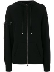 Barrie Zipped Hoodie Cashmere Xs Black