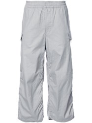 Undercover Cropped Cargo Trousers Men Cotton 3 Grey