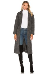 Ganni Fenn Wrap Coat Charcoal