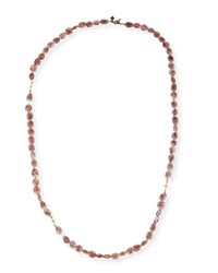 Armenta Old World Crivelli Rose Silverite Beaded Necklace 36 Yellow Black