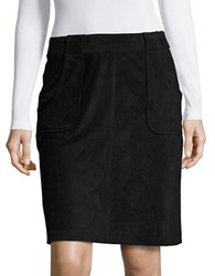Bb Dakota Faux Suede A Line Skirt Black