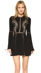 For Love And Lemons Penelope Mini Dress Black