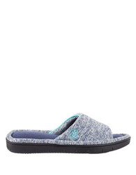 Isotoner Dot Patterned Slide Slippers Navy Blue