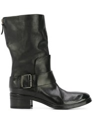Marsell Biker Ankle Boots Black