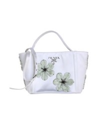 Prada Handbags White