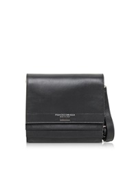 Francesco Biasia Miss Sarajevo Black Leather Messenger Bag
