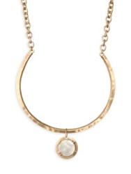 Stephanie Kantis Paris Mother Of Pearl And 18K Goldplated Necklace Yellow Gold