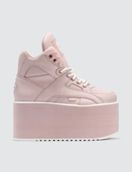 Buffalo London Baby Pink High Tower Platform Sneakers