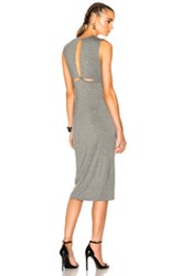 Alexander Wang T By Modal Spandex Back Slit Dress In Gray