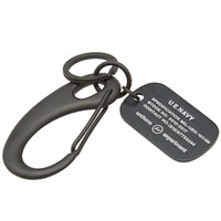 Uniform Experiment Dog Tag Key Ring Black