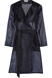 Milly Silk Organza Trench Coat