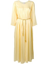 Forte Forte Long Ruched Tunic Dress Yellow