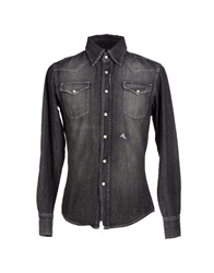 Bronzaji Denim Shirts Steel Grey
