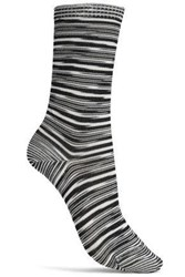Missoni Striped Knitted Socks Black