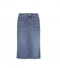 Mother Patchie Denim Skirt Blue