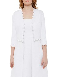 Ted Baker Tie The Knot Callie Jacquard Scallop Edge Jacket White