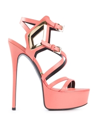 Gianmarco Lorenzi Platform Sandals Pink And Purple