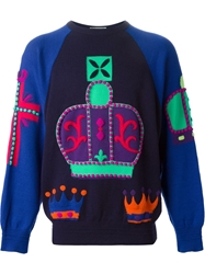 Gianni Versace Vintage Graphic Knitted Sweater