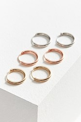 Urban Outfitters Micro Hoop Earring Set Silver Gold
