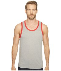 Alternative Apparel Vintage 50 50 Jersey Keeper Tank Top Smoke Grey Red Men's Sleeveless Gray