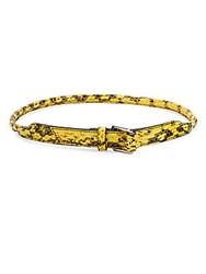Mcq By Alexander Mcqueen Embossed Leather Belt Yellow