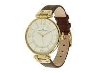Anne Klein 109168Ivbn Round Dial Leather Strap Watch Brown Analog Watches