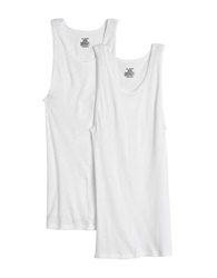 Jockey 2 Pack Big And Tall Ribbed Tank Top White