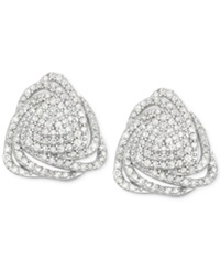 Wrapped In Love Diamond Triangle Stud Earrings 1 Ct. T.W. In Sterling Silver