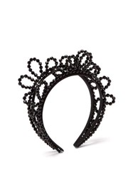 Simone Rocha Wiggle Beaded Headband Black