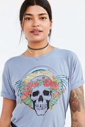 Truly Madly Deeply Angel Skull Tee Grey