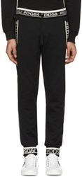 Dolce And Gabbana Black Hashtag Lounge Pants
