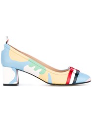 Thom Browne Patterned Pumps Women Calf Leather Leather 38.5 Blue