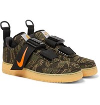 Nike Carhartt Wip Air Force 1 Camouflage Print Ripstop Sneakers Army Green