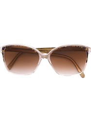 Yves Saint Laurent Vintage Square Frame Sunglasses Nude And Neutrals