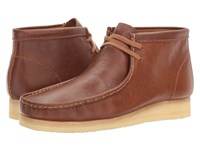 Clarks Wallabee Boot Tan Tumbled Leather Men's Lace Up Boots