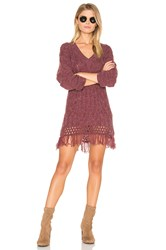Somedays Lovin Melrose Cable Knit Tunic Burgundy