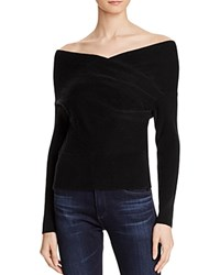 Mason Cross Wrap Sweater Black
