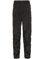 Stone Island Logo Patch Rip Stop Track Trousers Black