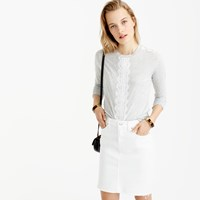 J.Crew Long Sleeve T Shirt With Lace