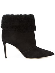 Paul Andrew Pointed Toe Ankle Boots Black