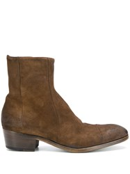 Silvano Sassetti Suede Ankle Boots Brown